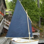10ft White Mallard Sailboat - row boat available