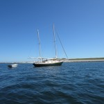 Bill's Drifter as Yacht Tender - wooden row and sail version