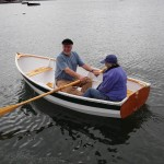 Bill and Caroline Rowing -  sail and row boat version