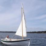 Mark sailing Drifter in Brooklin  sail and row boat version