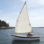 Bill sailing his Drifter, Brooklin, Maine