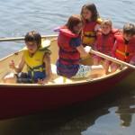 Red Mallard Rowboat - sail boat available