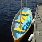 13ft Yellow Acorn Sailboat