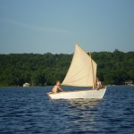 10ft Row and Sail Boat - Our own boat with Elena and Jesse, Deer Lake
