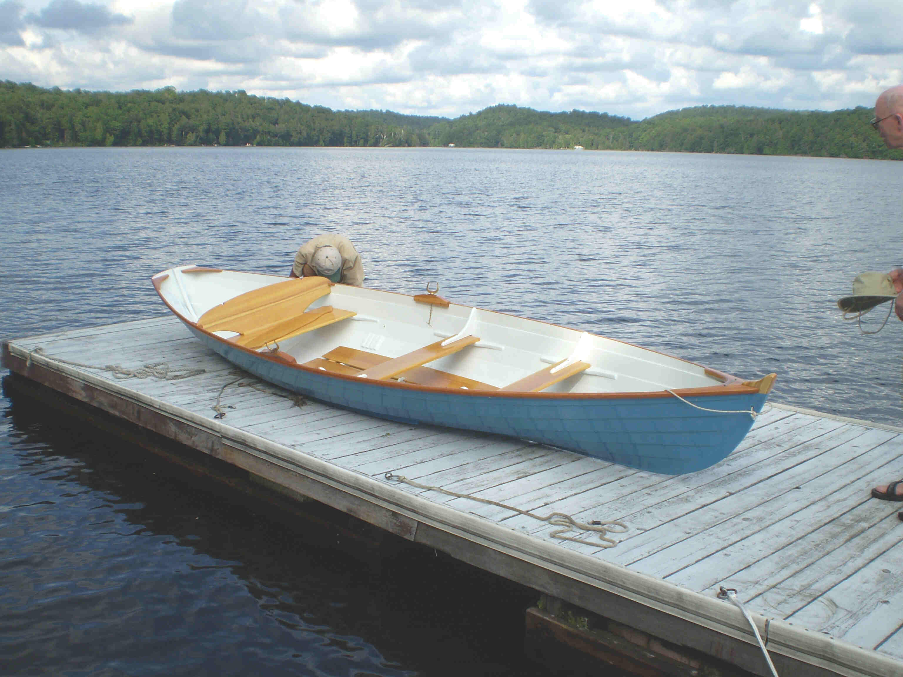 Custom wooden boats for sale by mark harwood water craft for Skiff craft boats for sale