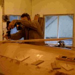 fastening the keel using scarf joints