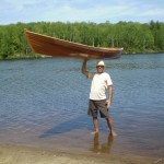 Mark holding the Canoe - 30lbs!