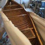 Re canvassed Canoe at Harwood Water Craft